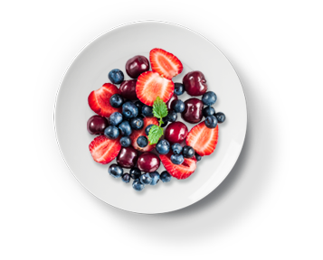 plated fruit