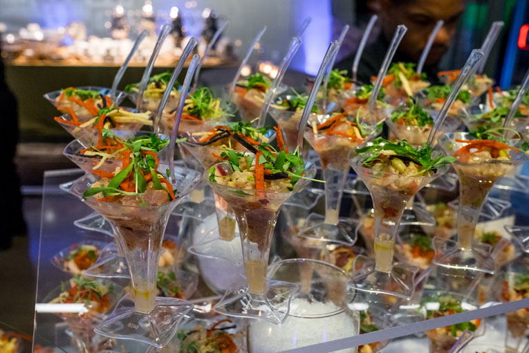 Delicious appetizers by Above & Beyond Catering