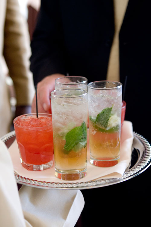 Cocktails served at an event by Above & Beyond Catering