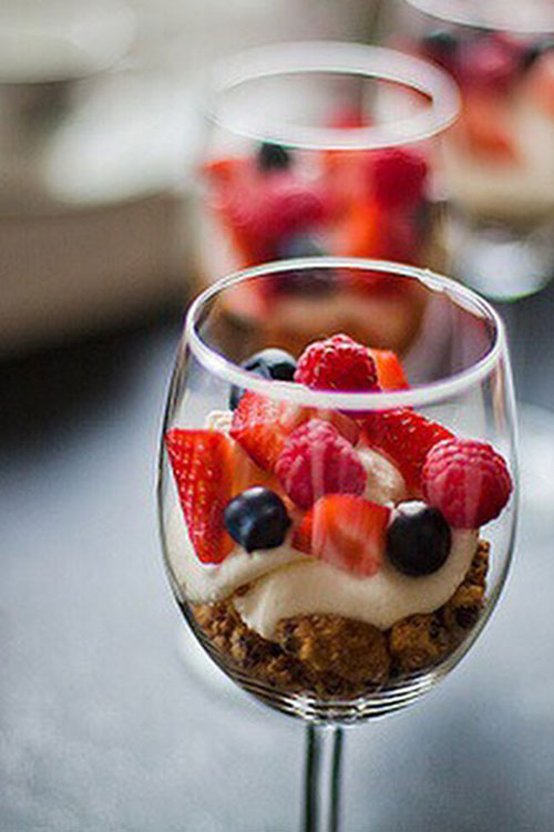 parfait in a wine glass