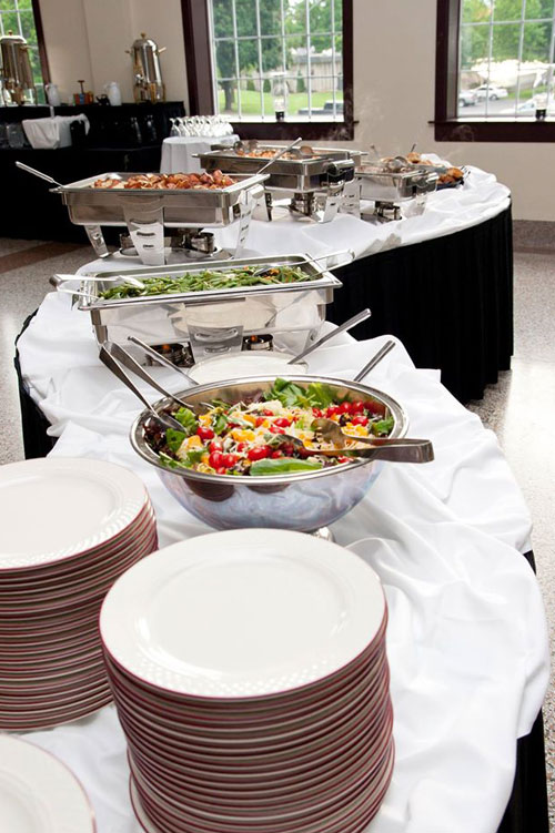Buffet at an event by Above & Beyond Catering