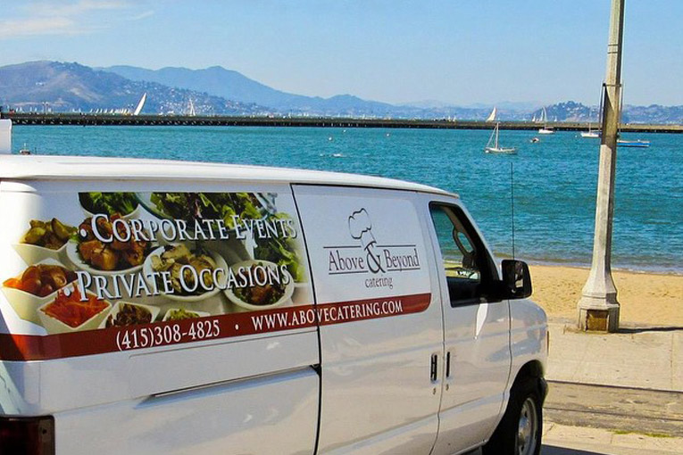 Above & Beyond Catering's delivery van