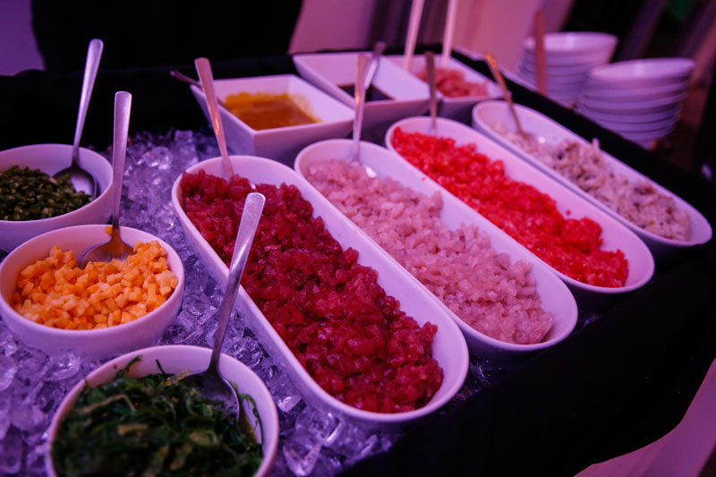 Poke Bowl Station at Event Food Trend