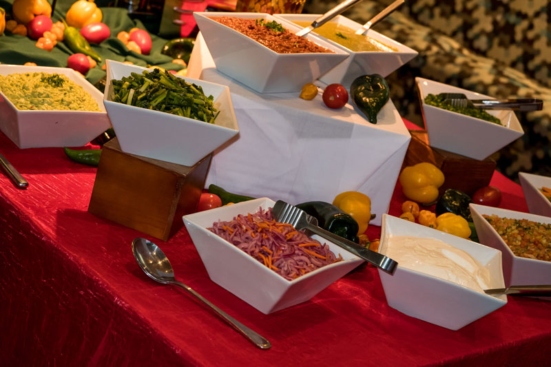 Taco Bar at Corporate Event